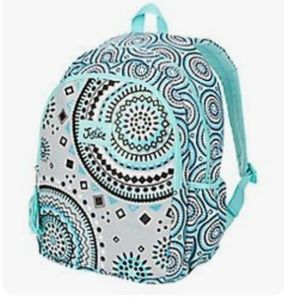 NWT Justice For Girls Mint Medallion Backpack